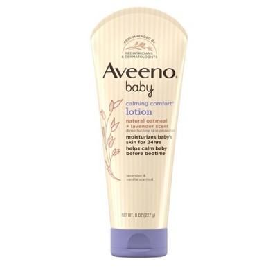 Aveeno Baby Calming Comfort Lotion with Oatmeal & Lavender Scent - 8oz