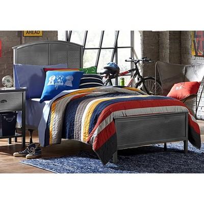 Kids' Twin Urban Quarters Metal Panel Bed Black - Hillsdale Furniture