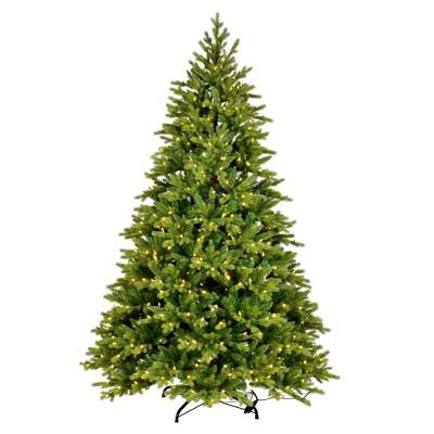 "Vickerman 5.5' x 40"" Porthill Pine Artificial Christmas Tree, Warm White Dura-lit LED Lights"
