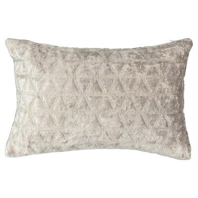 Gray Geo Social Call Lumbar Pillow (12x18 )- Beautyrest®