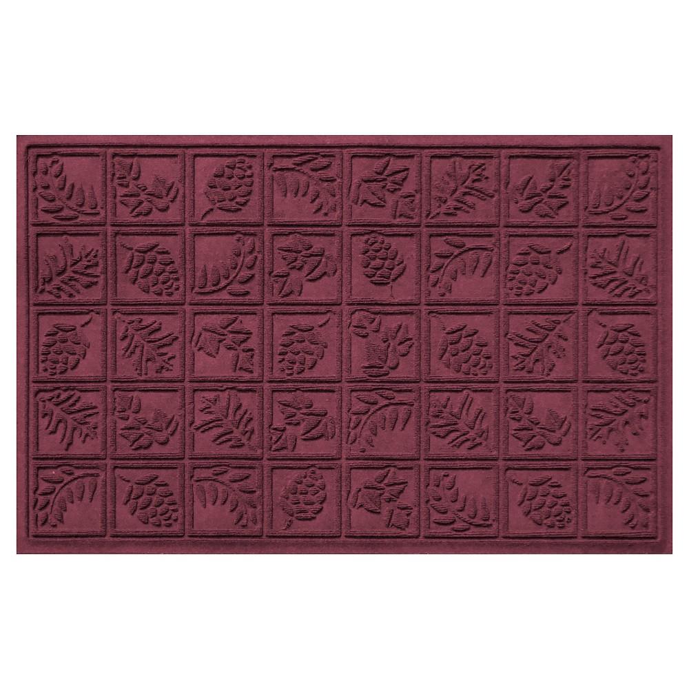 Bordeaux (Red) Botanical Doormat - (3'X5') - Bungalow Flooring