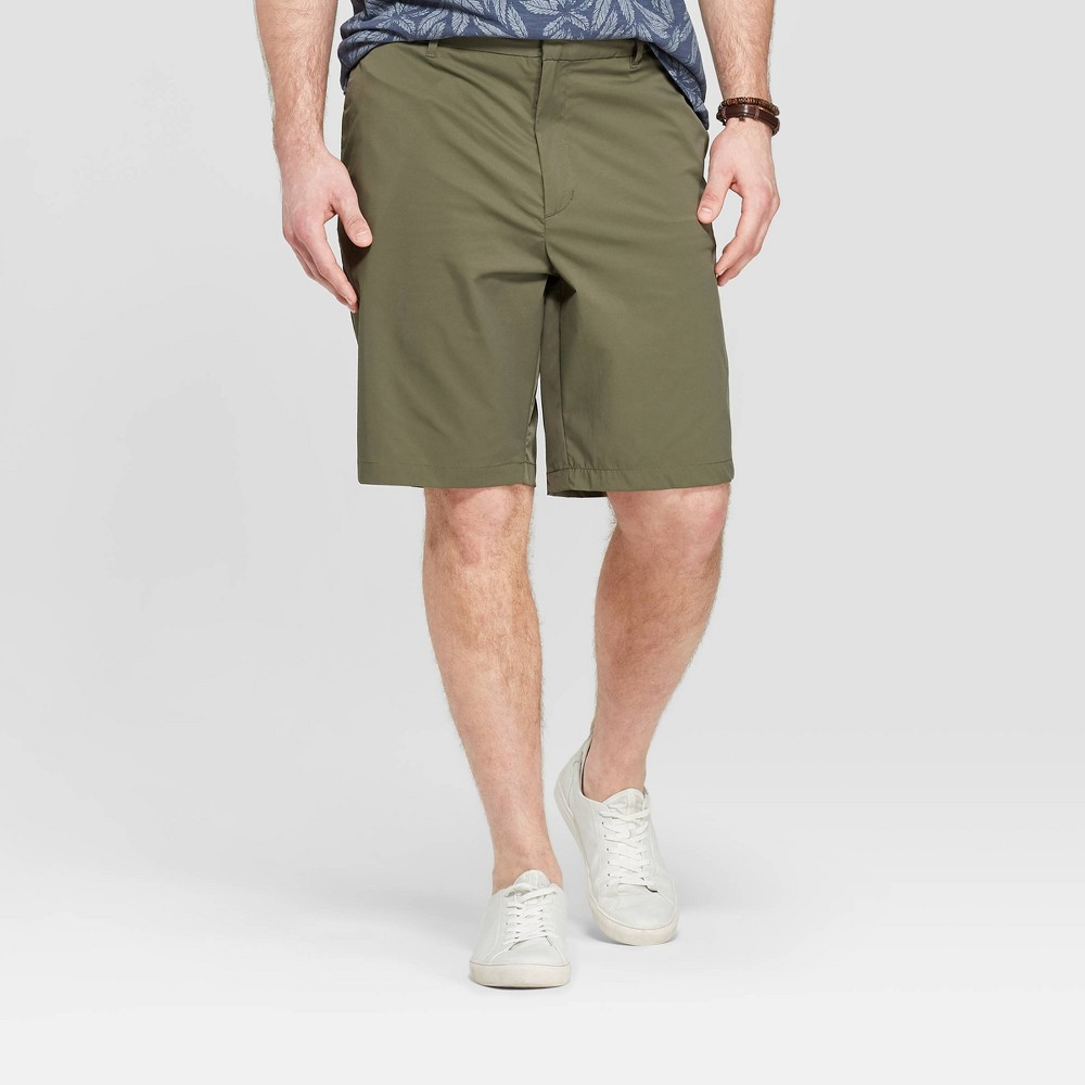 Men's Big & Tall 10.5 Chino Shorts - Goodfellow & Co Late Night Green 54
