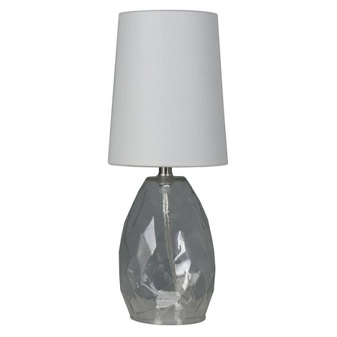 Accent Table Lamp with Glass Clear (Includes Energy Efficient Light Bulb) - Mastercraft International - image 1 of 2