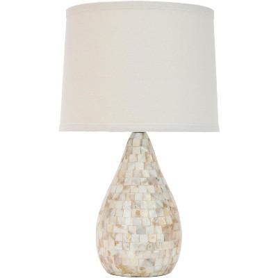 Lauralie Capiz Shell Lamp - Ivory - Safavieh