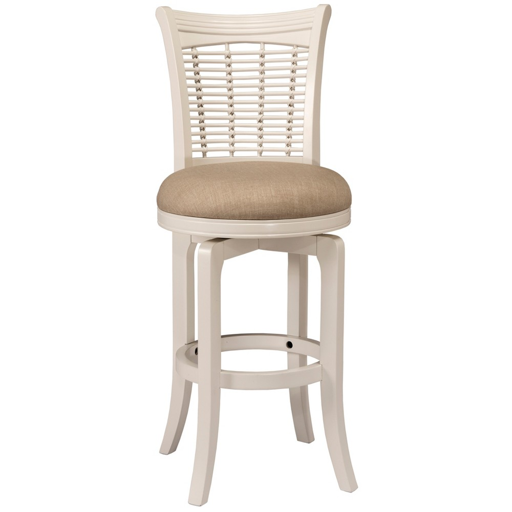 24 Bayberry Swivel Counter Stool White - Hillsdale Furniture
