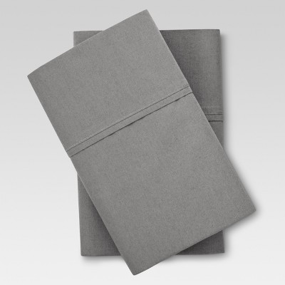Organic Pillowcase (Standard)Gray 300 Thread Count - Threshold™