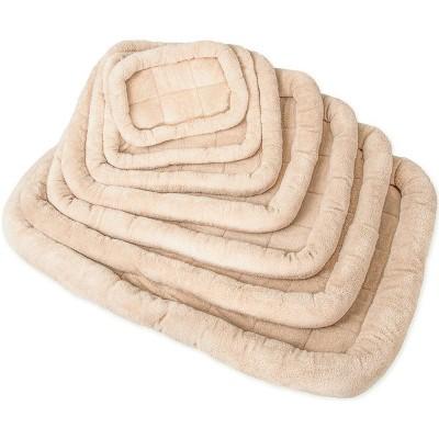 Paws & Pals  Bolster Dog Crate Bedding Pad with Slumber Bumper Rim, Medium to Large