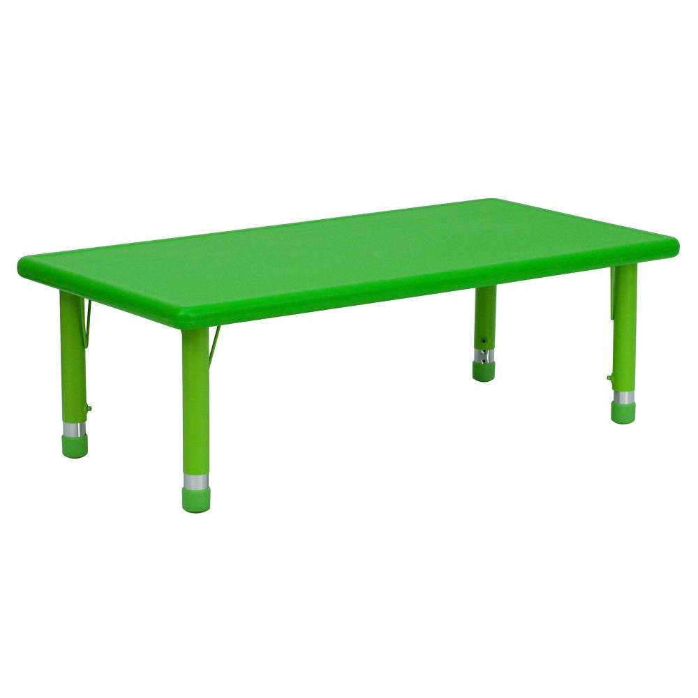 Image of Flash Furniture Rectangular Activity Table Green - Belnick