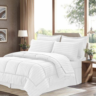 GoodGram 8 Pc Hotel Down Alternative Bed in a Bag Comforter Set