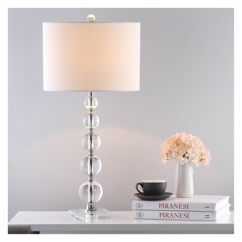 Liam Stacked Crystal Ball Table Lamp Safavieh Target