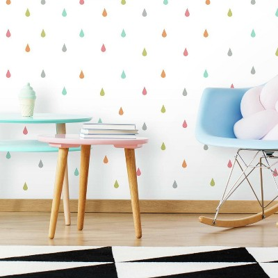 RoomMates Pastel Raindrop Peel and Stick Wall Decal