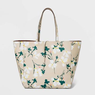 Reversible Magnetic Closure Tote Handbag - A New Day™