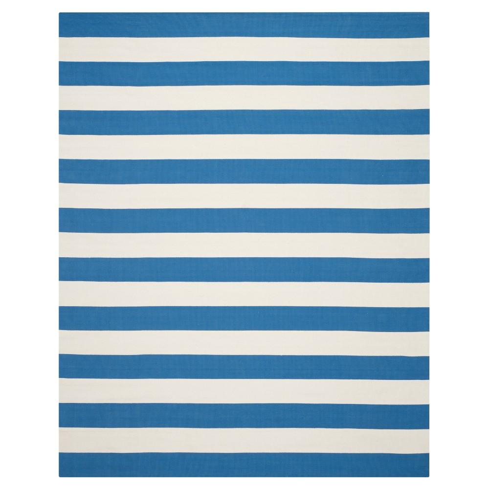 Mati Flatweave Area Rug - Blue / Ivory (9' X 12') - Safavieh