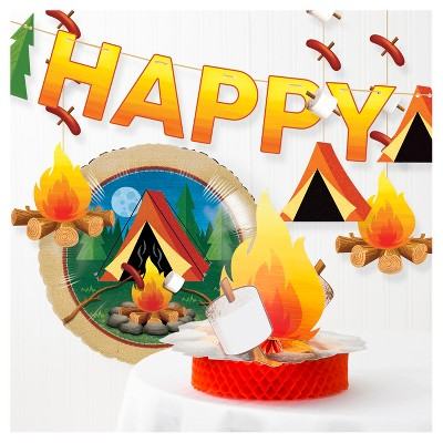 Happy Camping Party Decorating Kit