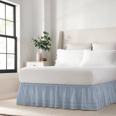 Wrap Around Eyelet Ruffled Bed Skirt - EasyFit™