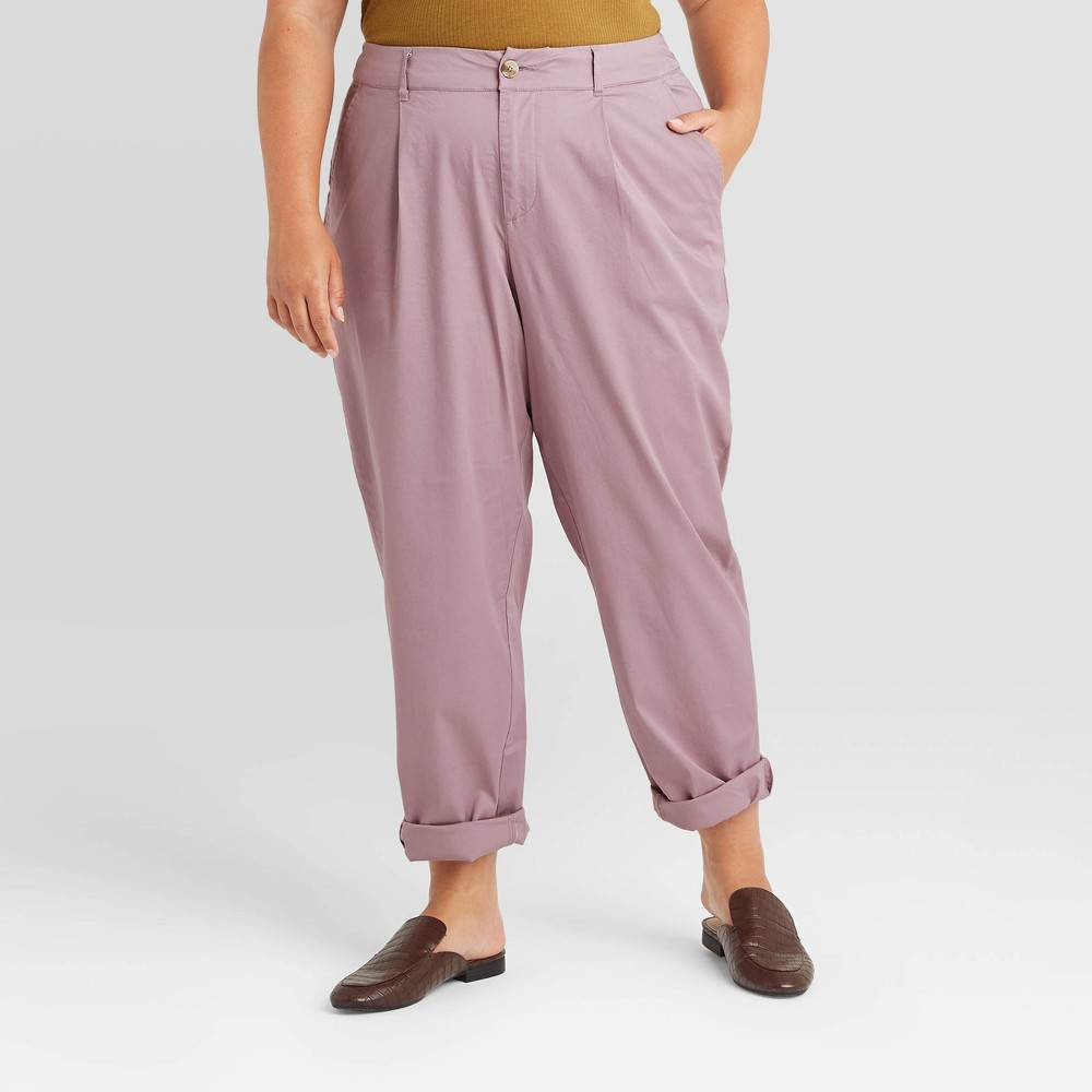 Compare Women's Plus Size High-Rise Straight Leg Ankle Pants - A New Day™