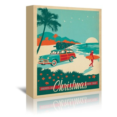Americanflat X Mas Surfs Up by Anderson Design Group Unframed Canvas Wall Art