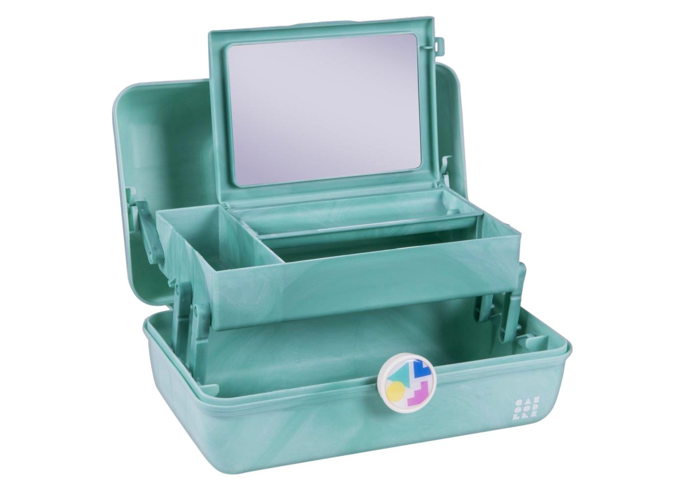 Retro Caboodles On the Go Girl Case Seafoam Marble - image 2 of 3