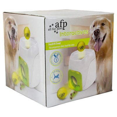 toys r us pets fetch n treat interactive dog toy, white