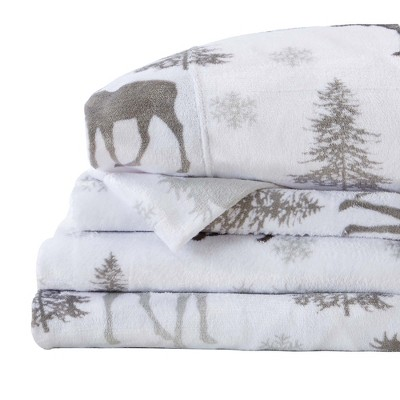 Great Bay Home Velvet Plush Luxury Printed Sheet Sets