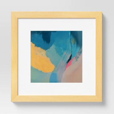 "10"" x 10"" Abstract by Morgan Harper Nichols Framed Wall Canvas Blue"