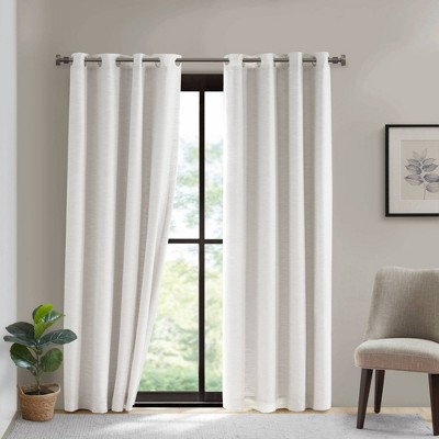 Shaye Cotton Blackout Curtain Panel with Removable Liner