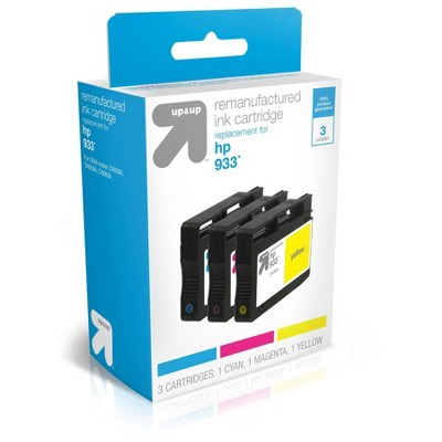Remanufactured Cyan/Magenta/Yellow Standard 3-Pack Ink Cartridges - Compatible with HP 933 Ink Series Printers - TAR933CMY - up & up™