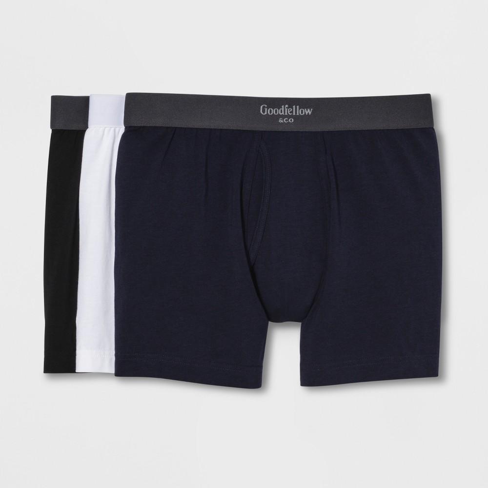 Best Sale Men Premium Knit Boxer Briefs 3pk Goodfellow Co 2XL Multi Colored