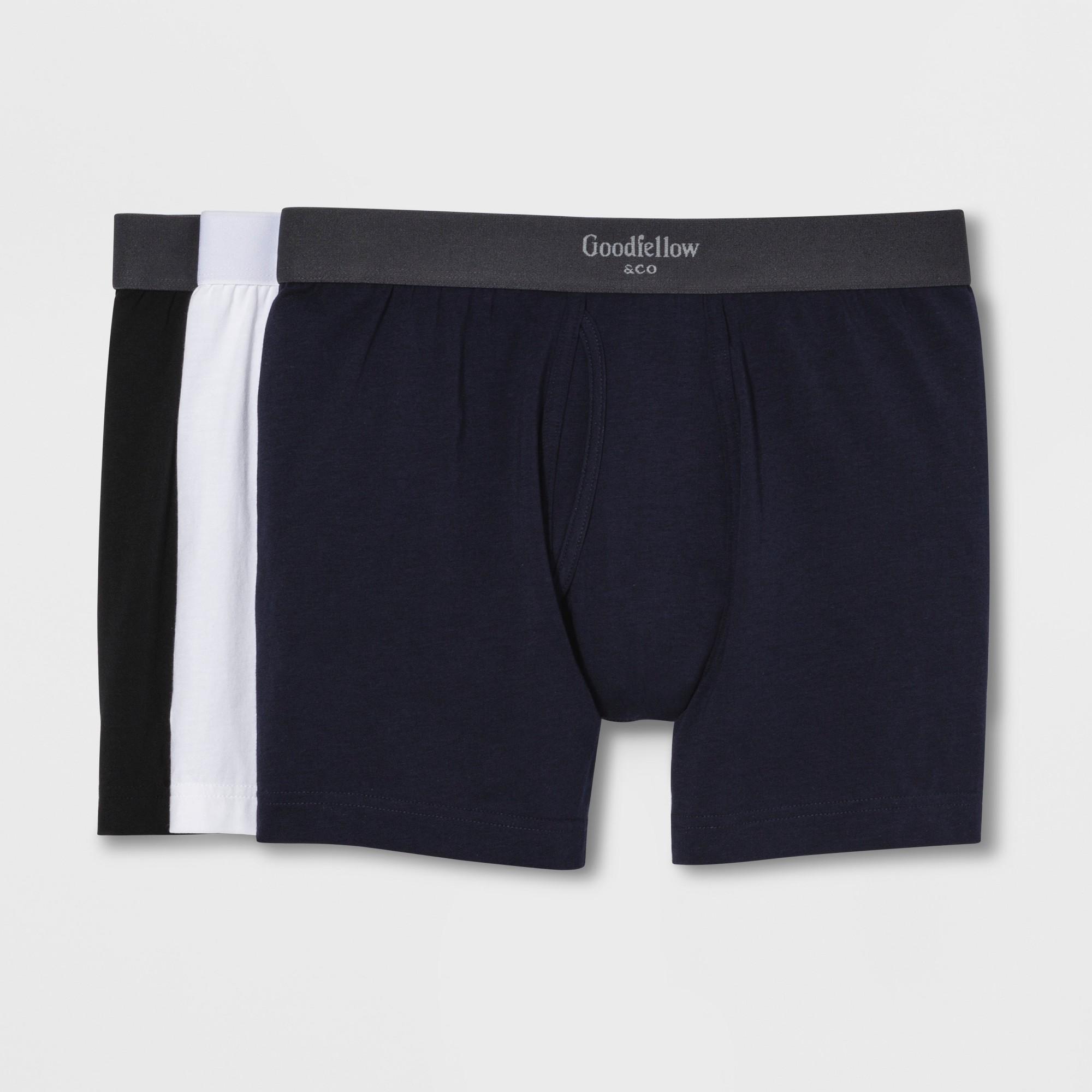 Men's Premium Knit Boxer Briefs 3pk - Goodfellow & Co 2XL, Multi-Colored