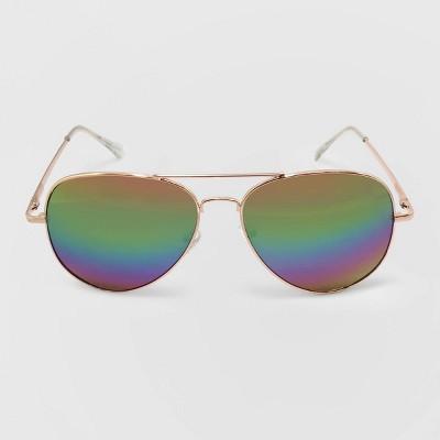 Women's Aviator Metal Sunglasses - Wild Fable™ Gold