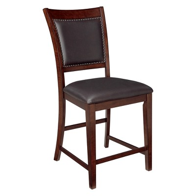 Collenburg Upholstered Counter Height Barstool Dark Brown - Signature Design by Ashley