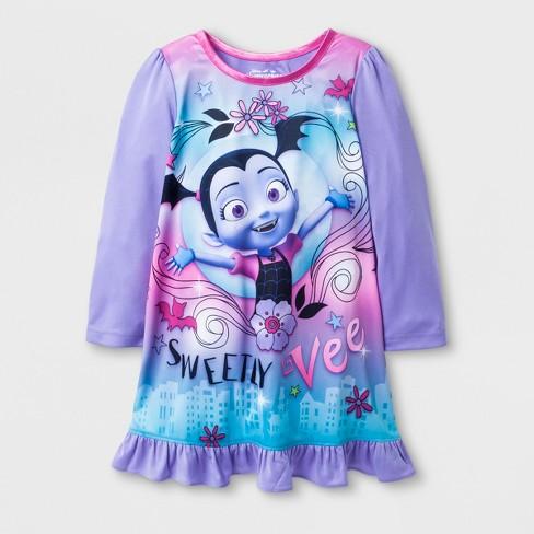 38fa09b30 Toddler Girls' Vampirina Nightgown - Purple : Target