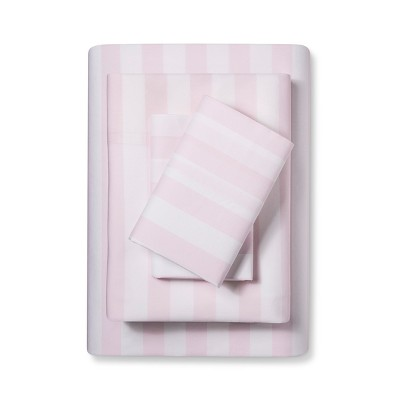 Embroidered Hem Printed Sheet Set (Queen)Pink - Simply Shabby Chic®