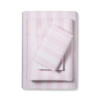 Full Striped Cotton Percale Sheet Set Pink - Simply Shabby Chic®