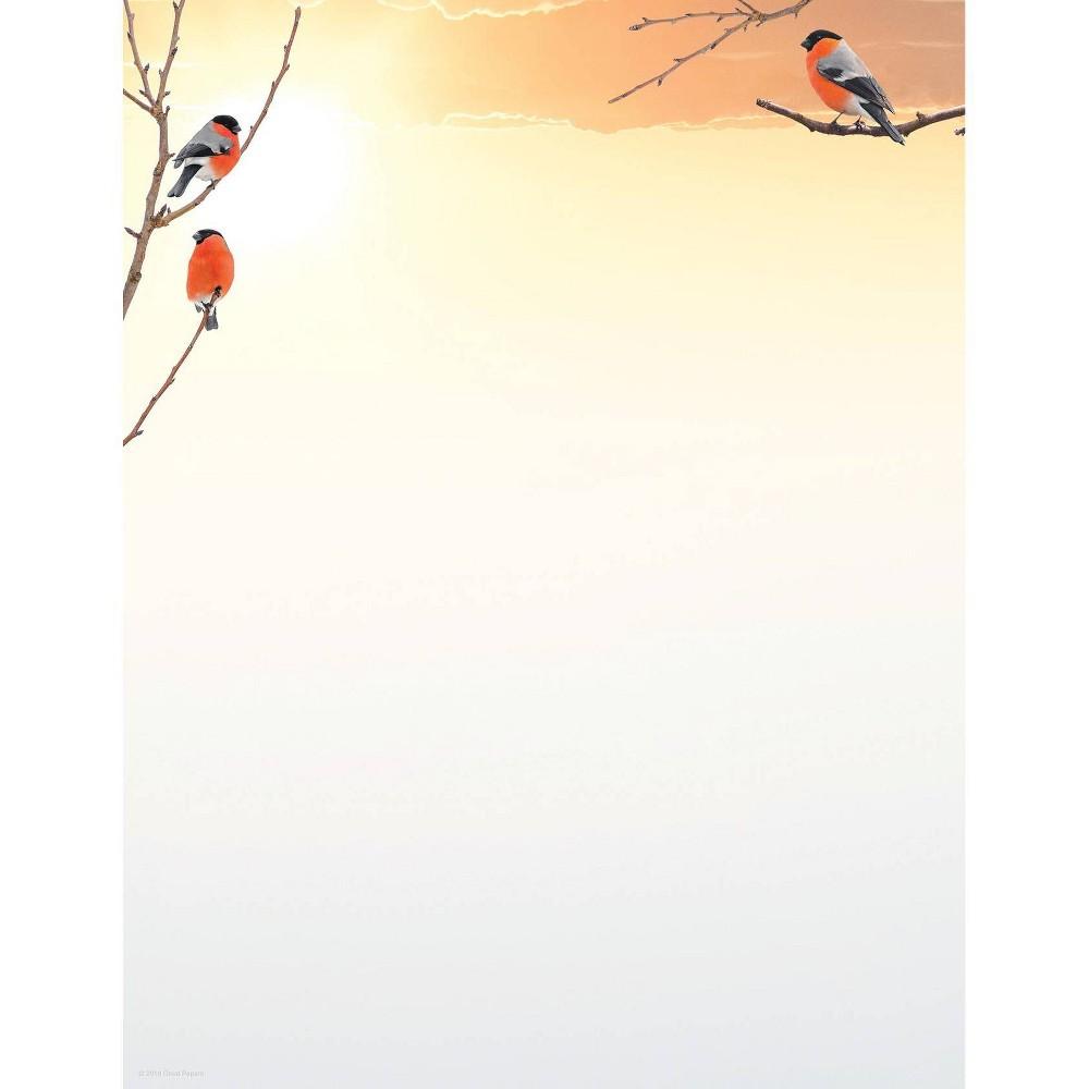 Image of 80ct Fall Birdies Letterhead, White
