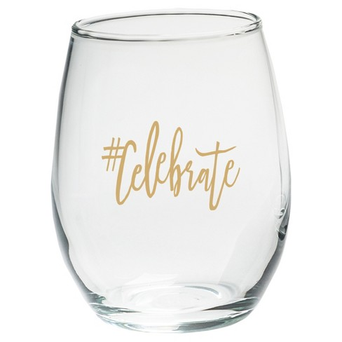 4ct Kate Aspen #Celebrate Stemless Wine Glass - image 1 of 2