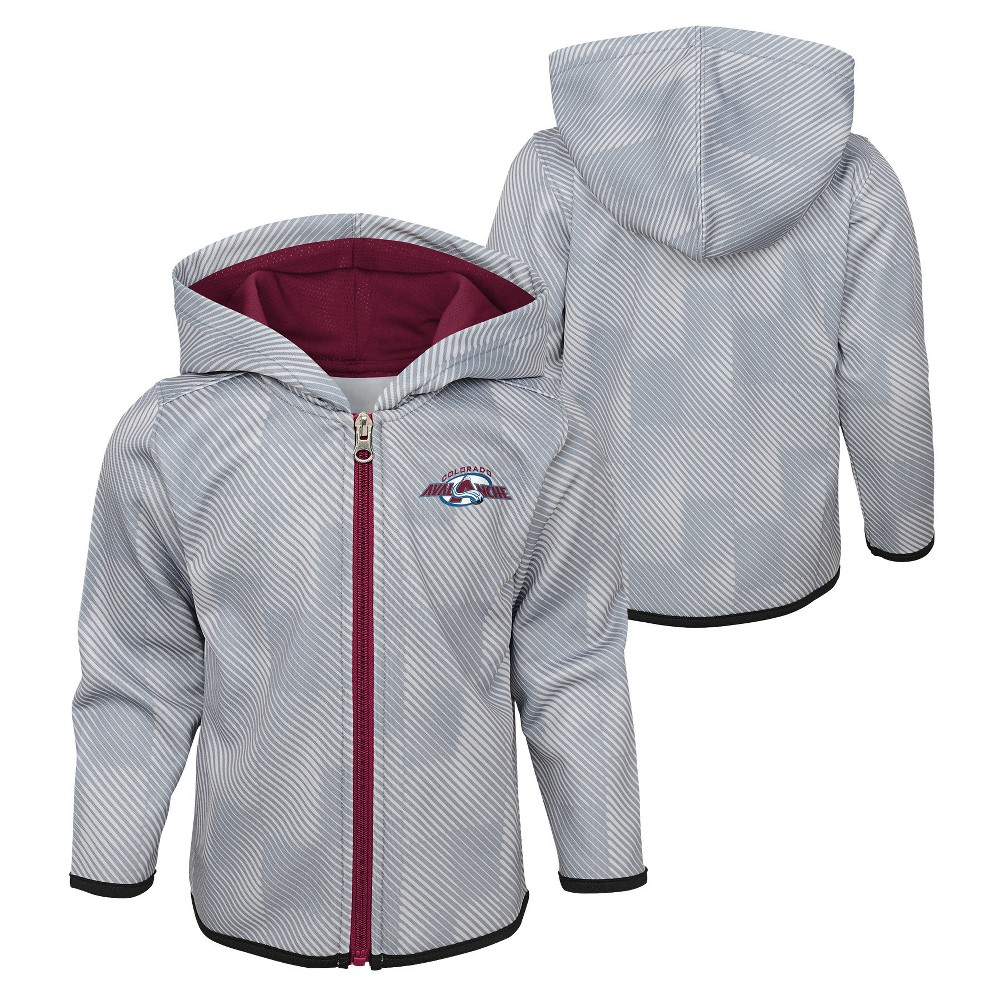 Colorado Avalanche Toddler Shootout Full Zip Hoodie 4T, Toddler Boy's, Multicolored
