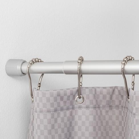 86 Basic Tension Aluminum Shower Curtain Rod