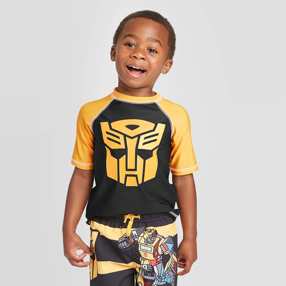 Image of Toddler Boys' Transformers Rash guard - Yellow 2T, Boy's, MultiColored