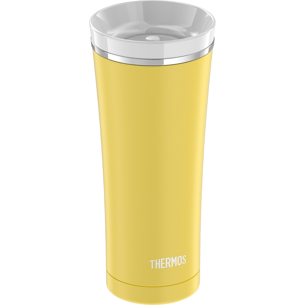 Thermos Stainless Steel Vacuum Insulated Lidded Tumbler 16oz - Yellow, Gerbera Yellow