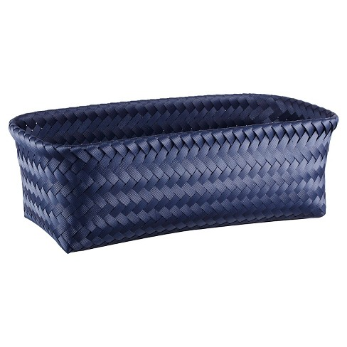 Small Rectangle Woven Bin - Navy - Room Essentials™ - image 1 of 1