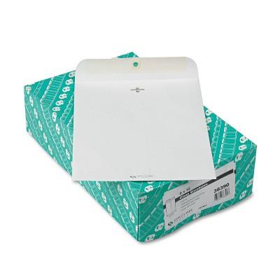 Quality Park Clasp Envelope 9 x 12 28lb White 100/Box 38390