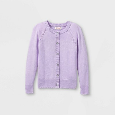 Toddler Girls' Knit Cardigan - Cat & Jack™ Purple