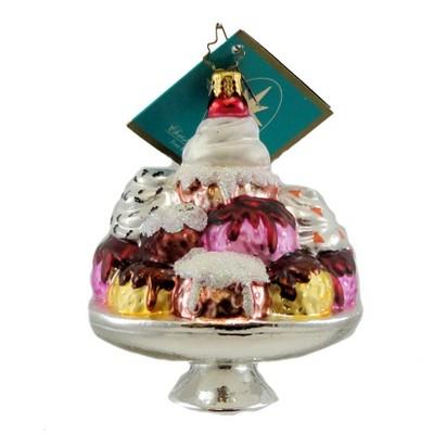 Christopher Radko Bonanza Split Ornament Ice Cream Christmas  -  Tree Ornaments