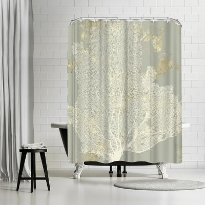 """Americanflat Sea Coral I by Pi Creative Art 71"""" x 74"""" Shower Curtain"""