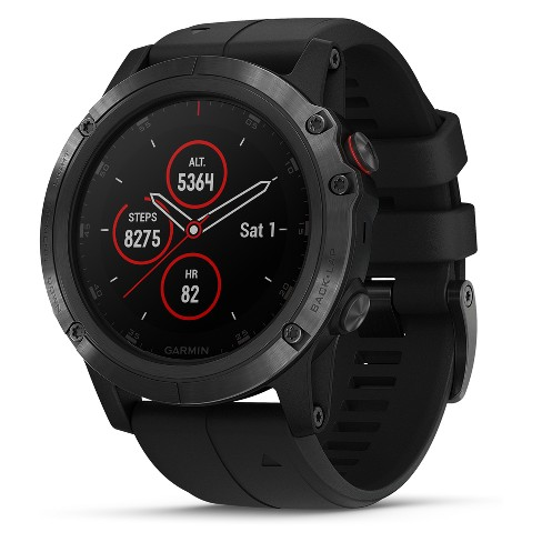 Garmin fenix 5X Plus Sapphire Watch - Black - image 1 of 4