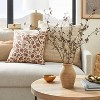 Floral Printed Throw Pillow Rust/Cream - Threshold™ designed with Studio McGee - image 2 of 4