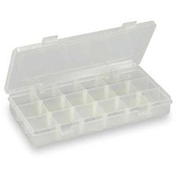 "WESTWARD 2HFR3 3 to 18 Adjustable Compartment Box, 5""L x 9""W x 1-3/8""H"