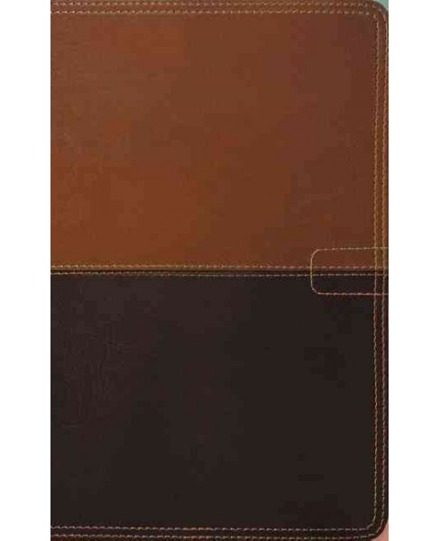 Holy Bible : New King James Version, Brown/Dark Brown Leathersoft, Personal Size, Study (Paperback) - image 1 of 1