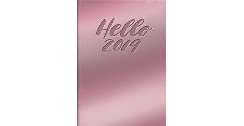 Hello Mirrored Pink Leatheresque 17 Months 2018-2019 Medium Weekly Agenda -  (Paperback) - image 1 of 1